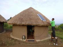 Solar panels on African Hut
